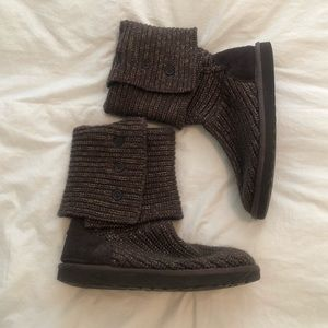 Size 8 Brown Knit Ugg Boots ✨